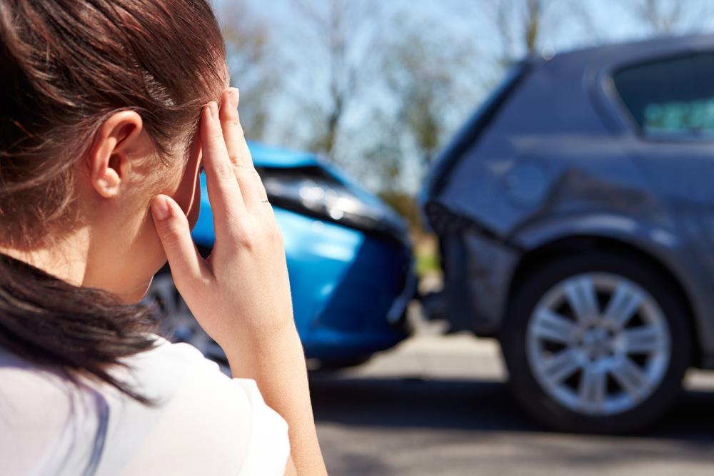 woman in car accident